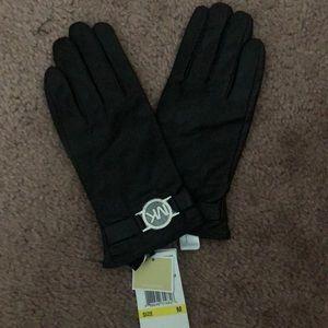 Leather MK gloves
